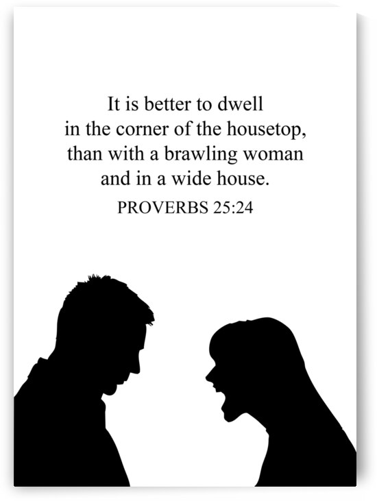 Proverbs 25 24 white by ABConcepts