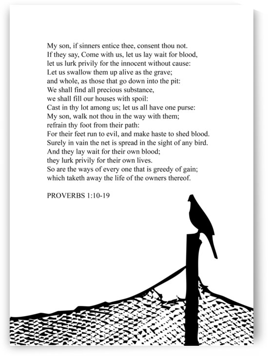 Proverbs 1 10 19 white by ABConcepts