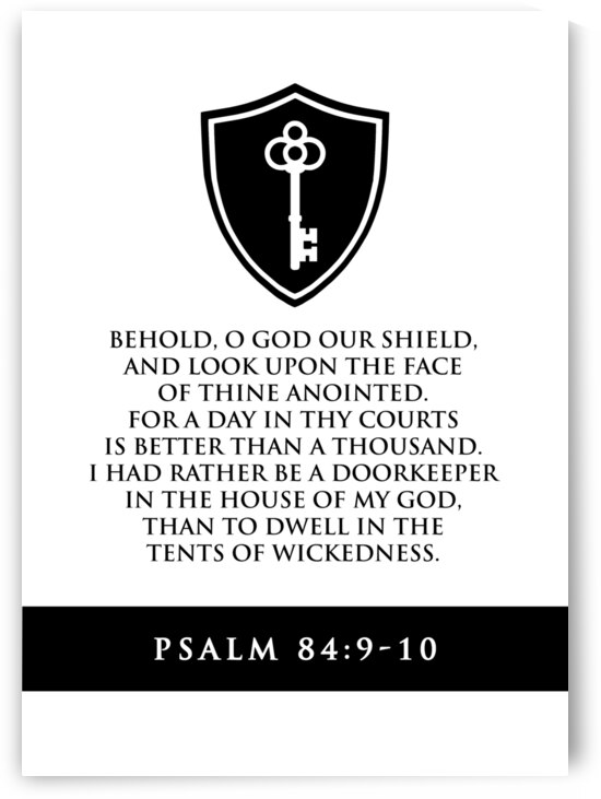 Psalm 84 9 10 white by ABConcepts