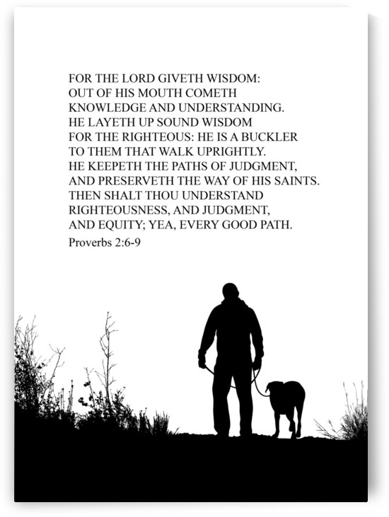 Proverbs 2 6 9 white by ABConcepts