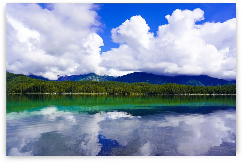 Reflections in the Crystal Clear Waters of Lake Eibsee with the southern Ammergauer Alps near Garmisch Germany by 1North
