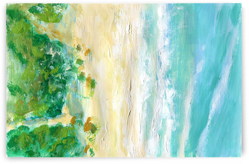 Abstract beach with sea waves by Anna Ponomarenko