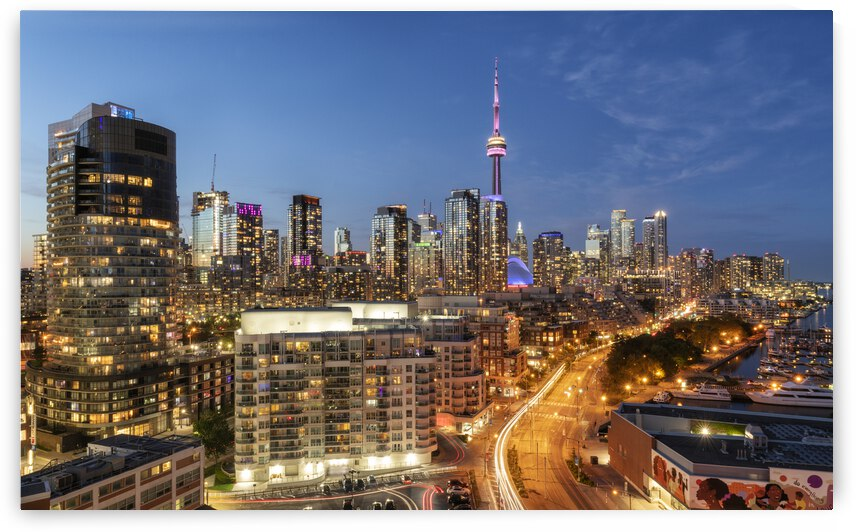 Toronto Skyline at Blue Hour  by Celso Mollo