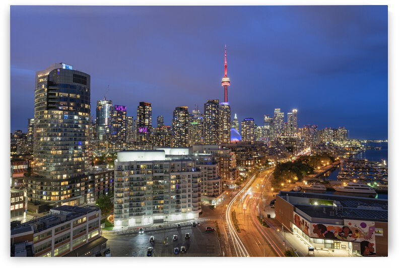 Queens Quay Skyeline Toronto  by Celso Mollo