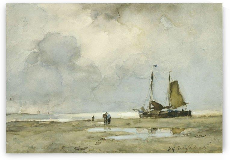 Strandgezicht by Jan Weissenbruch