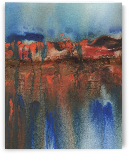 Abstract Mystery Watercolor Landscape IV by Irina Sztukowski