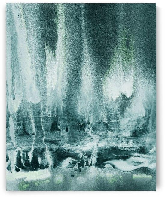 Abstract Mystery Watercolor Landscape V by Irina Sztukowski