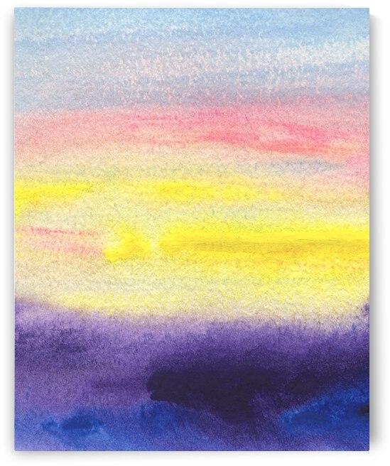 Abstract Mystery Watercolor Landscape VII by Irina Sztukowski