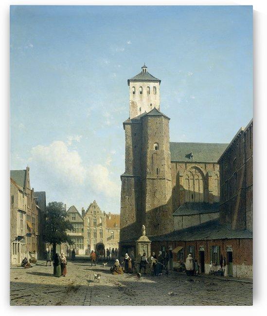 De kerk van St Denis te Luik by Jan Weissenbruch