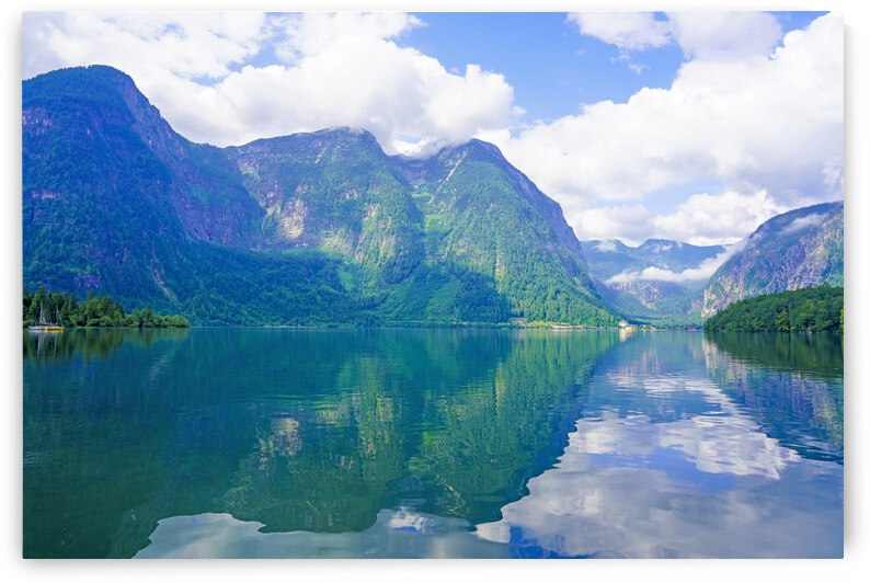 Brilliant Reflections on Lake Hallstatter and the Upper Austrian Alps in the Salzkammergut Cultural Landscape UNESCO World Heritage Site 2 of 2 by 24