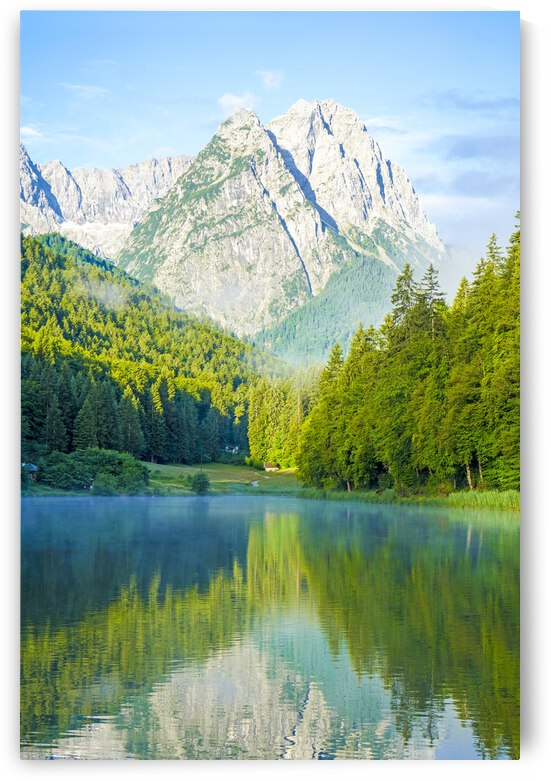 Lake Reissersee and the Mountains of the Wetterstein by 24