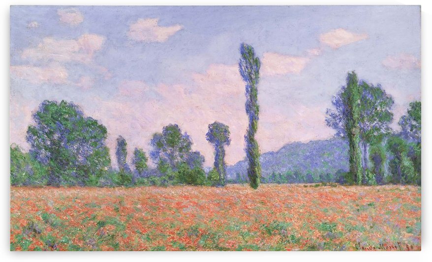 Field of Poppies near Giverny by Jan Weissenbruch