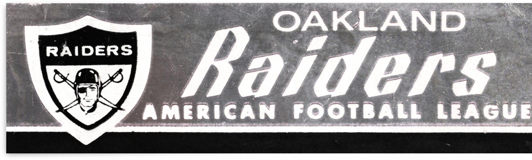 1969 Oakland Raiders Ticket Stub Remix Art by Row One Brand