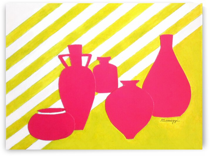 Modern Pottery  No.1 by Jayne Somogy