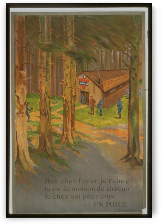 Vintage---Soldiers-in-the-woods by VINTAGE POSTER