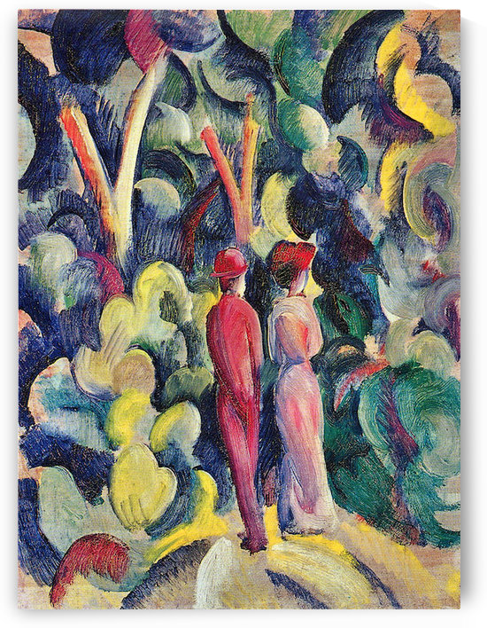 Couple in the forest by August Macke by August Macke
