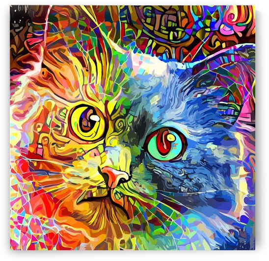 Rainbow Cat by ART AND INSPIRATION