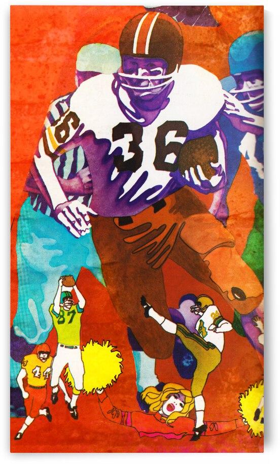 1969 Retro Football Art by Row One Brand