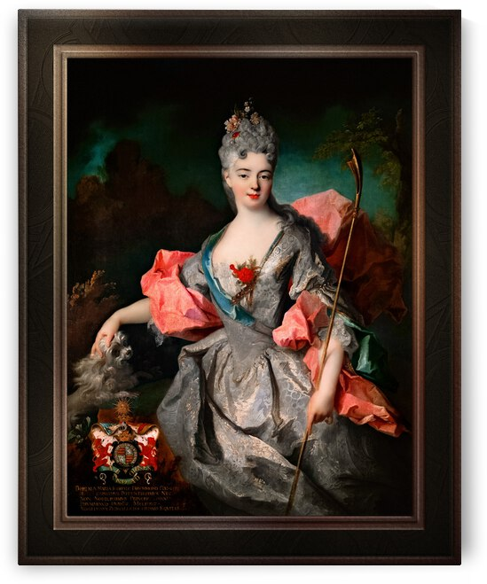 Lady Maria Josefa Drummond by Jean-Baptiste Oudry Classical Fine Art Xzendor7 Old Masters Reproductions by xzendor7