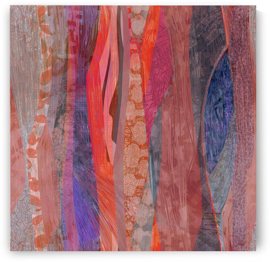 Southwest strata - coral copper abstract by CR Leyland