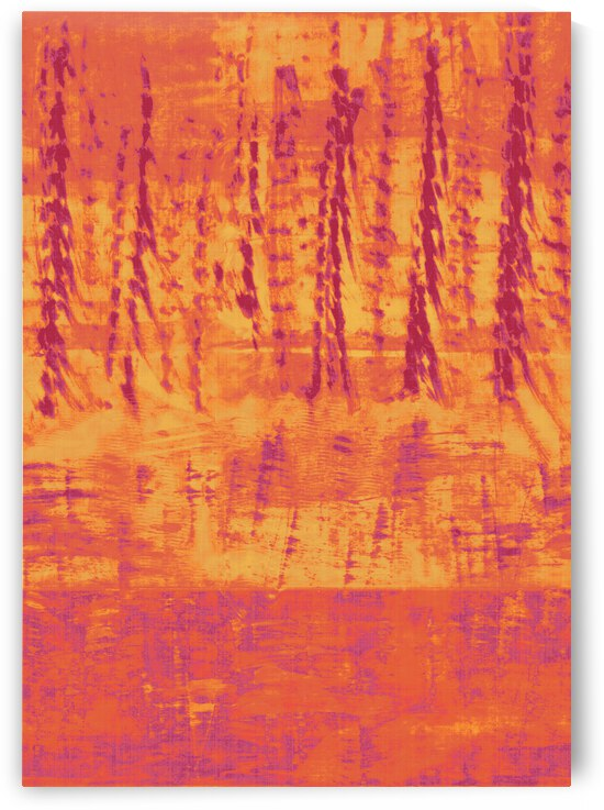 Abstract tree line orange flame by CR Leyland