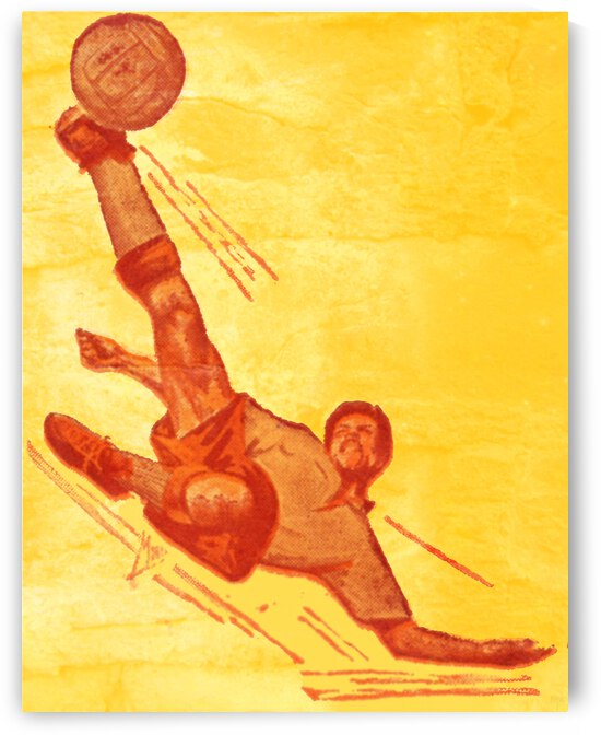 1964 Vintage Soccer Art by Row One Brand