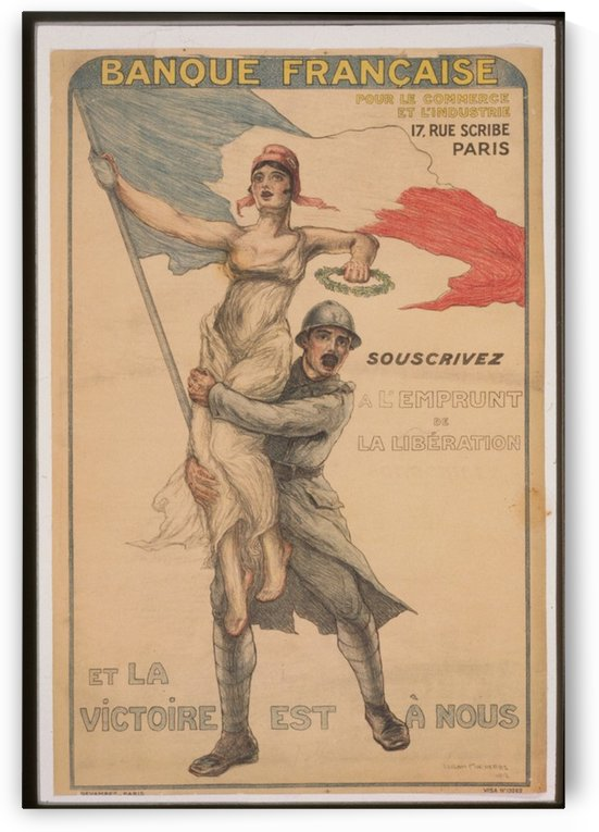 Vintage---Victory-for-France by VINTAGE POSTER