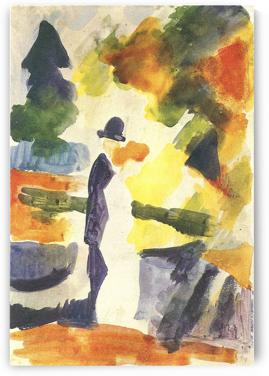 Couple in the park by August Macke by August Macke
