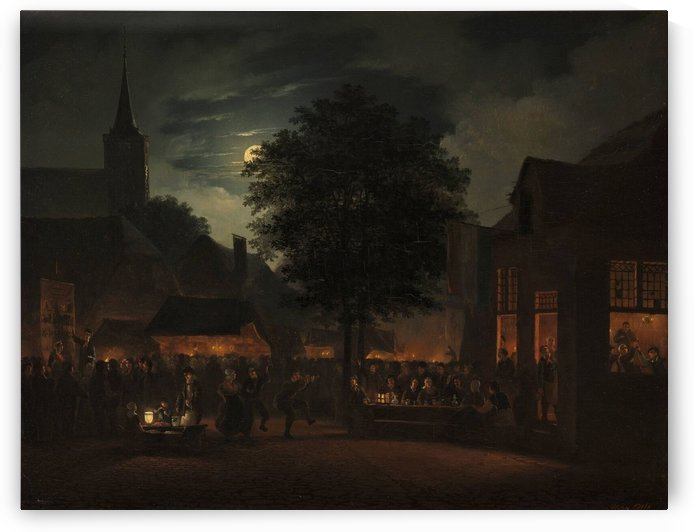 Village Fair by Night by Hendrik Gerrit ten Cate