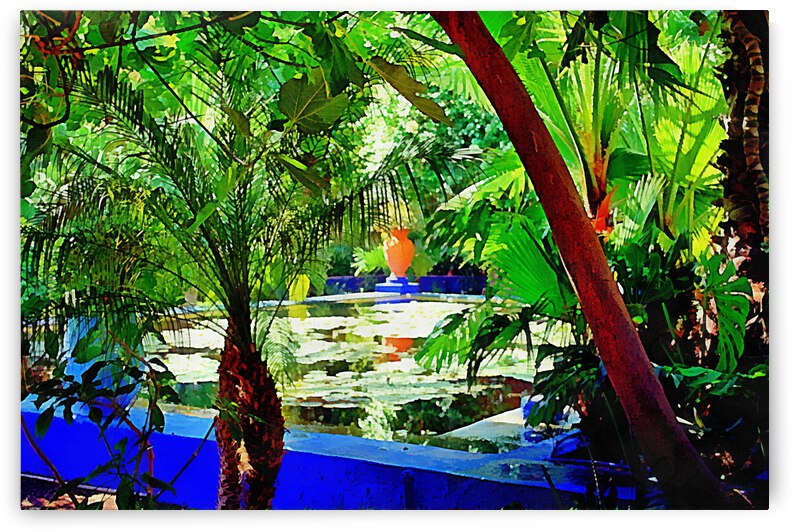 View To the Lily Pond Marrakesh by Dorothy Berry-Lound
