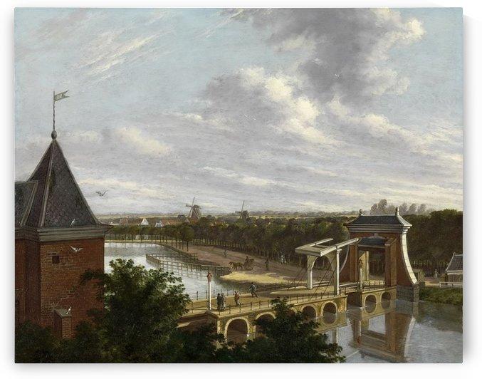 De Torensluis met de Jan Roodenpoortstoren te Amsterdam, 1829 by Hendrik Gerrit ten Cate