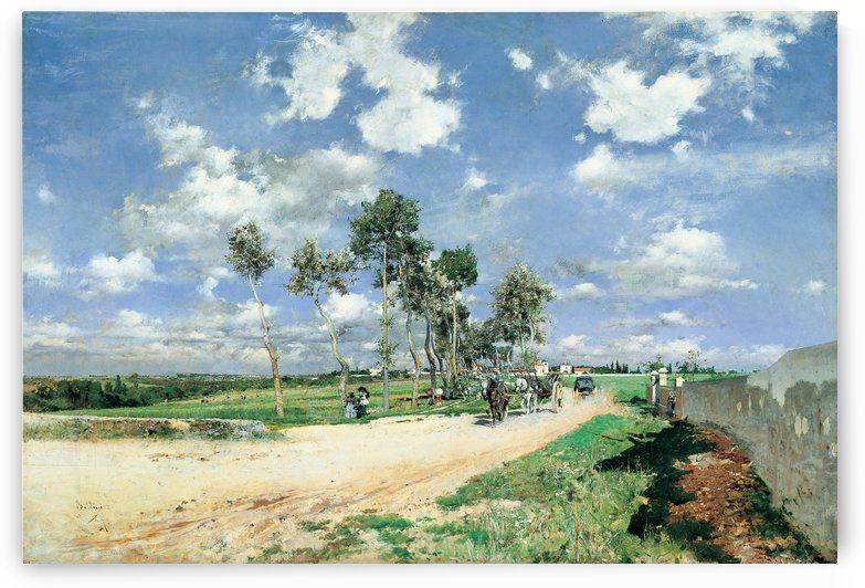 Highway of Combes la Ville by Giovanni Boldini