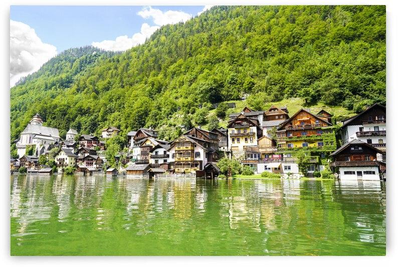 Hallstatt in Spring Austria Alps by 360 Studios