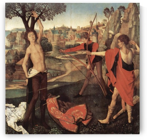 Martyrium des Saint Sebastian by Hans Memling