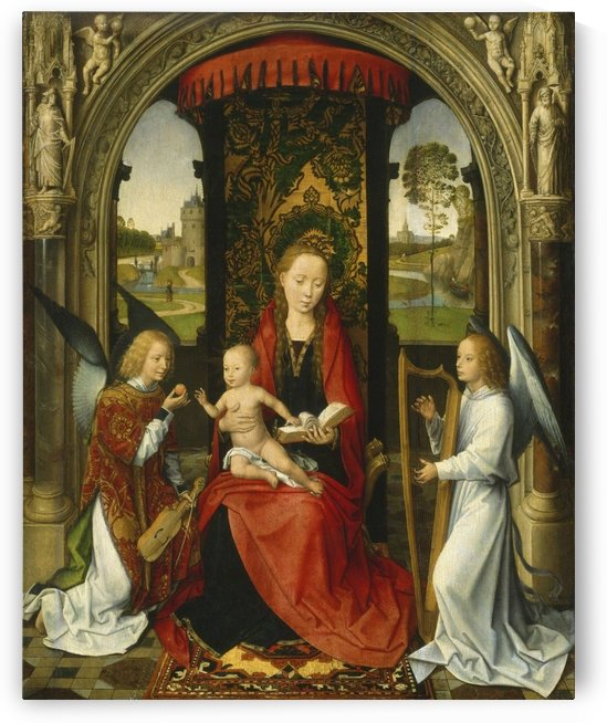 Madonna and Child with Angels by Hans Memling