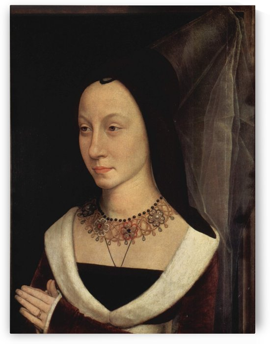Portrait of Maria Portinari, 1475 by Hans Memling