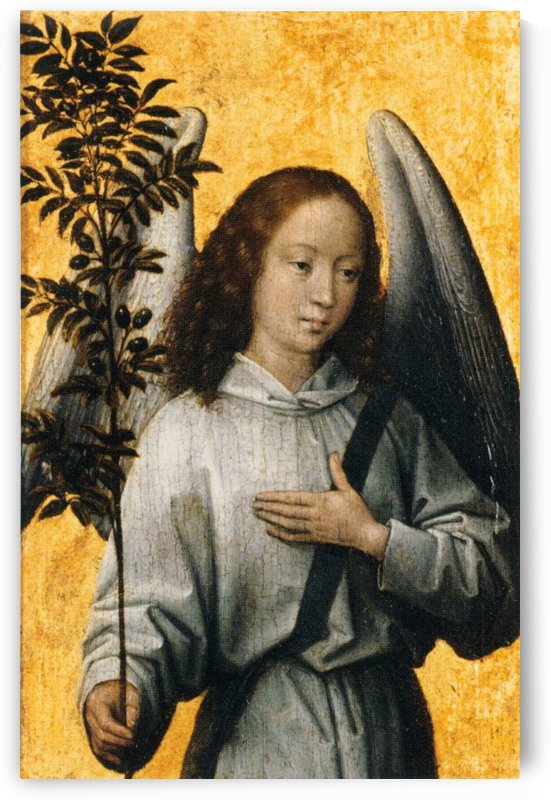 Angel with an Olive Branch Emblem of Divine Peace by Hans Memling