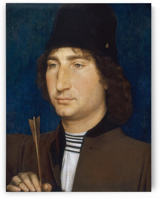 Portrait of a man with an arrow by Hans Memling