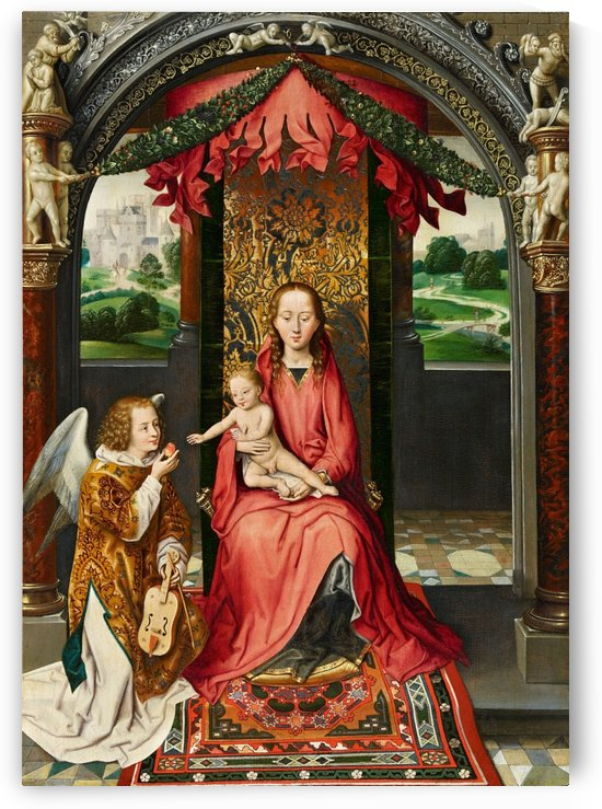 The Virgin and Child with a Musical Angel by Hans Memling