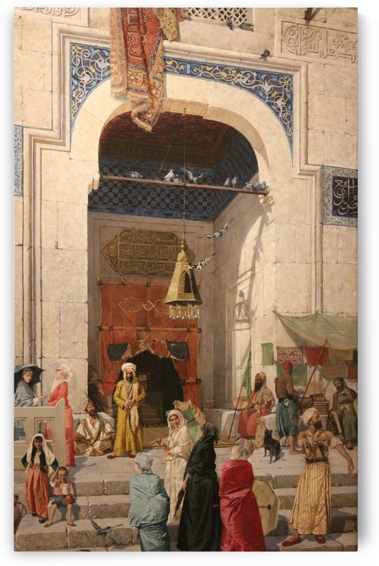 Figures walking in Istanbul by Osman Hamdi Bey