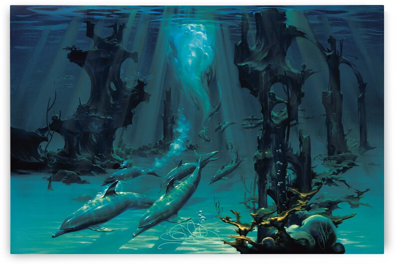 Atlantis Dolphins by John Pitre