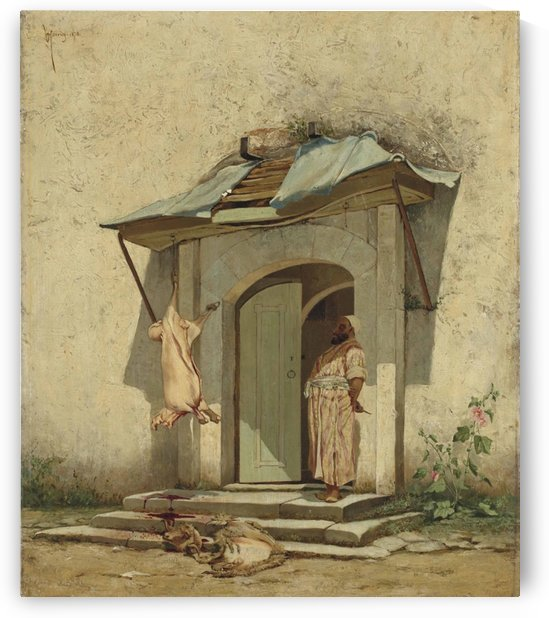 An Ottoman butcher by Osman Hamdi Bey