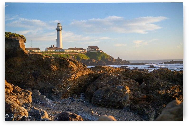 Golden Hour Lighthouse by Katrina A Natori