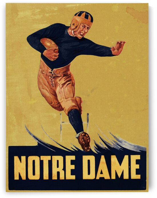 1935 Vintage Notre Dame Football Art by Row One Brand