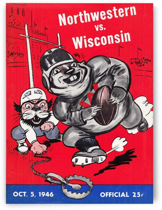 1946 Northwestern vs. Wisconsin Football Program Cover Art by Row One Brand
