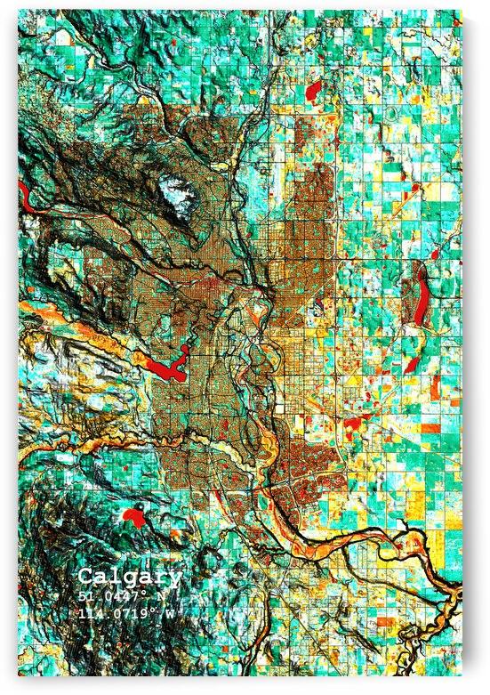 Calgary Alberta Map Art by Map Art