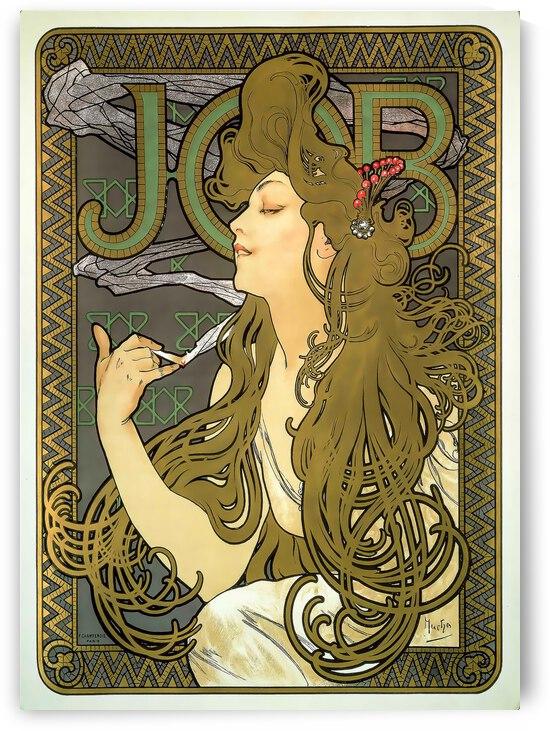 Alphonse Mucha Job cigarette paper 1896 by TOPARTGALLERY