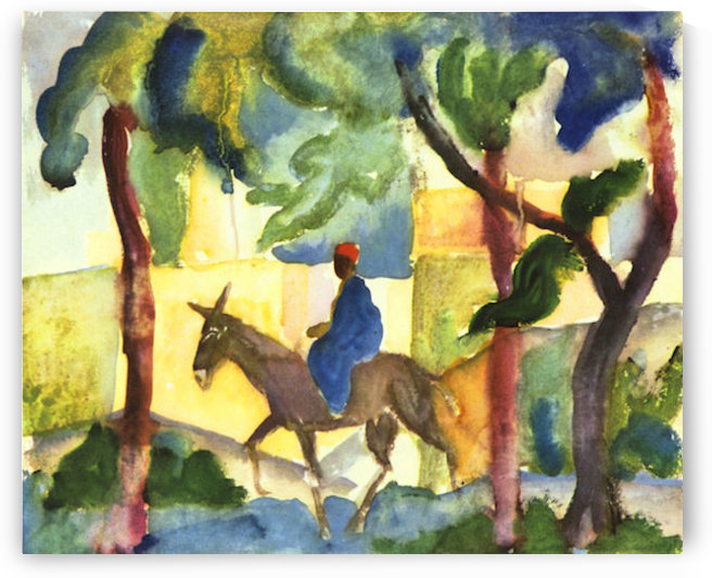 Donkey Rider by August Macke by August Macke