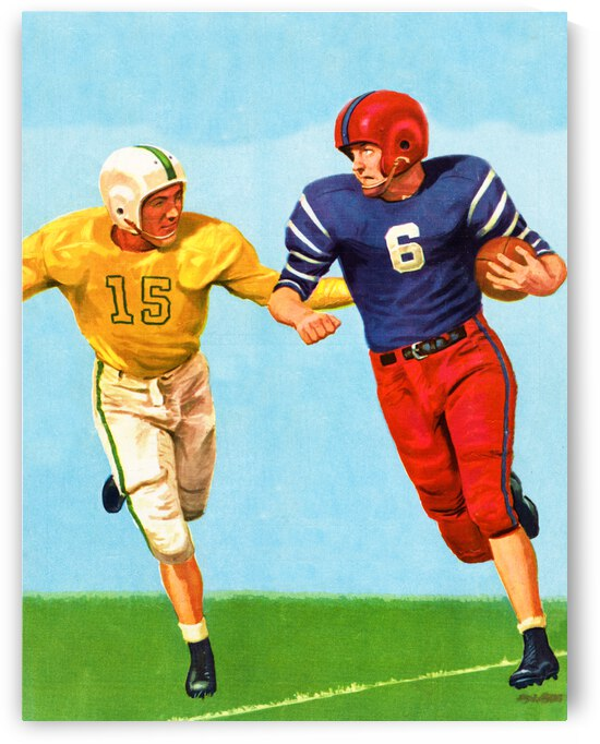 1959 Vintage Football Art by Row One Brand
