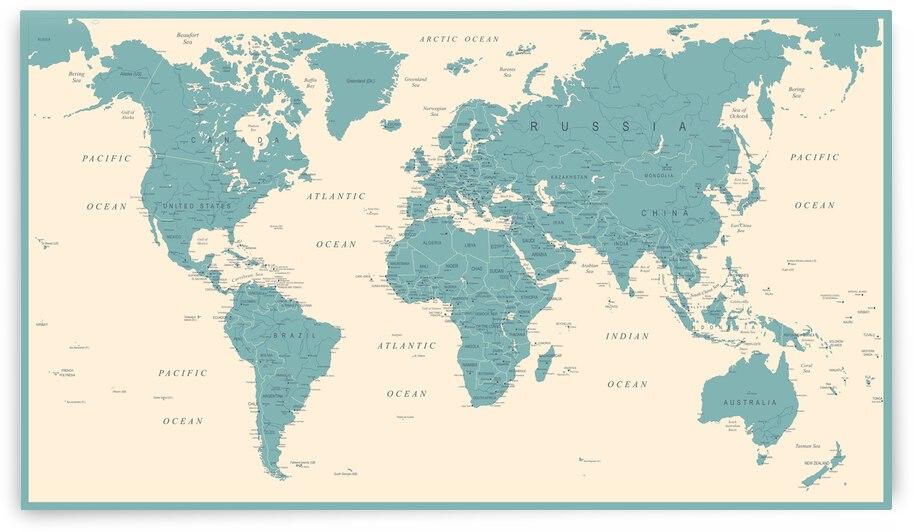World Map Vintage by SamKal